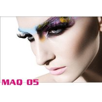 Adesivo Painel Poster Salao Maquiagem Make Up Maq05