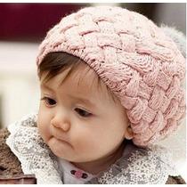 Touca Toca Gorro Bebê Algodão Rosa, Bege E Vermelha