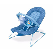Cadeira De Descanso Azul Royal Xadrez Vibra 0-11kg