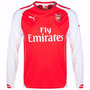 Camiseta Oficial Arsenal 2014/2015 - Manga Longa - Original