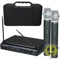Microfone Sem Fio Karsect Kru 302 Uhf Maleta Loja Kadu Som