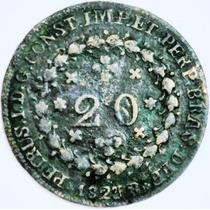 Moeda Império Brasil Coleção Antiga Rara Cobre Tulipas 1823