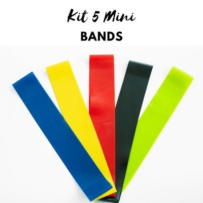 943d55c6e Kit 5 Mini Band Para Glúteos E Pernas
