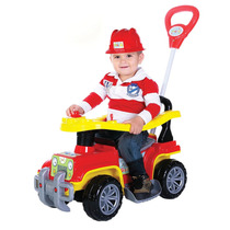 Novo Brinquedo Velotrol Maral Veículo Infantil Jipe Bombeiro