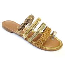 Sandália Rasteira Dakota S9861 - Dourada