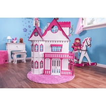 Kit Casa Barbie Com Moveis Completo Pintada 1,2 M Altura S-b