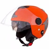 Capacete Moto Pro Tork #new Atomic Viseira Dupla Fumê Colors