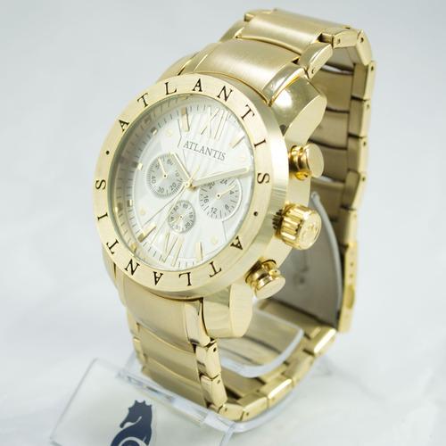 c79ad46d7e8 Relógio Masculino Dourado Atlantis Original Bvlgati + Caixa à venda ...