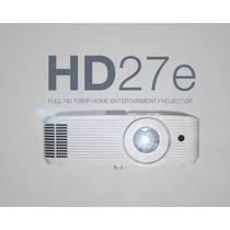 Projetor Optoma Hd-27e  3d / 1080p / 3400 Lumens 12x Nfe Gar
