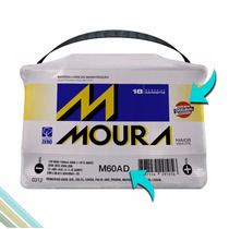 Bateria Automotiva Moura 60ah - Ampéres - M60ad