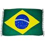 Canga De Praia Bandeira Do Brasil Souvenir Ótima Qualidade
