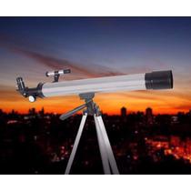 Luneta Telescópio Astronômico Refrator Com Tripé 600mm 100x