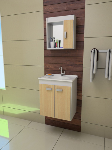 Aparador Moderno Branco ~ Gabinete Armário Banheiro Palermo C Kit Hidráulico