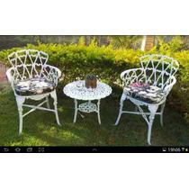 Jogo De Cadeiras Mais Mesa Para Jardim Ou Varadas Aluminio