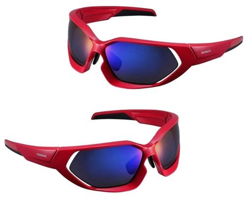 c1418e3e02bf1 Oculos Shimano Ce-s51x Vermelho preto 3 Lentes