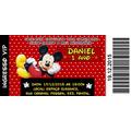 70  Convites Ingresso Do Mickey Cinema 14x6,5
