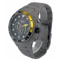 Relógio Orient Titânio Sea Tech Mbttc014 - 500m Solar
