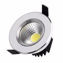Kit 10 Spots Luminária Led 3w Circular Embutir Direcionável