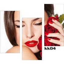 Salão Estética Beleza - Adesivo Decorativo Cabeleireiro Kk04