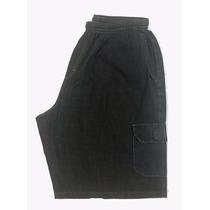 Bermuda Masculina Algodão De Elástico Black Jeans Plus Size