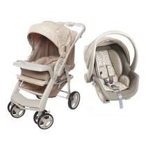 Carrinho De Bebê Optimus E Bebê Conforto Cocoon - Bege G