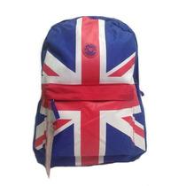 Mochila Feminina Escolar Notebook Inglaterra Lona +barata