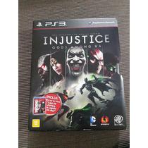 Injustice + Dvd Bluray Liga Da Justiça ( Ps3 Midia Fisica )
