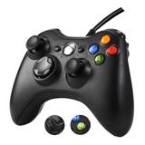 Controle Manete Com Fio Xbox 360 Pc Slim Joystick Vibra + Nf