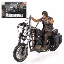 The Walking Dead Daryl Dixon + A Moto Mcfarlane Toys Deluxe