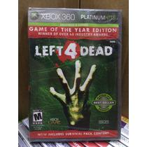 Left 4 Dead 1 Goty Platinum Hits Xbox 360 Lacrado