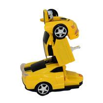 Carro Robô Transformers Carrinho Infantil Camaro Amarelo