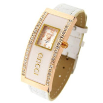 Relógio Feminino Gucci Pulseira De Couro Branco