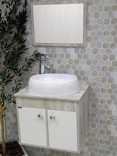 Gabinete Armário P Banheiro Luziania 50cm Com Cuba Luzza à