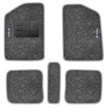 Jogo Tapete Carpete Bordado Gol G2 / G3 / G4 Grafite 5 Pçs