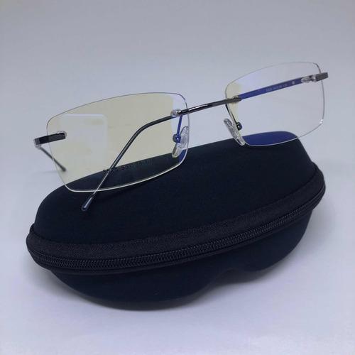 Armação Parafusada Sem Aro Flutuante Óculos P  Grau Grafite - R  49 ... 7c0990d751
