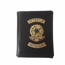 Carteira Em Couro Cheque Para Detetive Particular