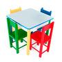 Jogo De Mesa Infantil Com 4 Cadeiras Criança Frete Grátis