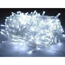 Pisca Natal 8 Funções Led Branco 110v 10m 1039 Fio Transpare
