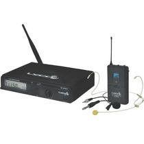 Microfone Sem Fio Digital Uhf Headset Auricular Lapela Lyco