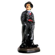 Boneco Charlie Chaplin Em Resina Escultura, Estáua