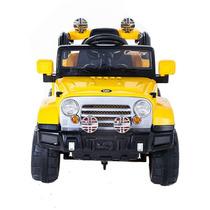 Jipe Infantil Carro Elétrico Trilha Amarelo Controle Remoto