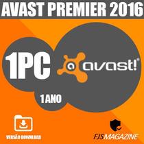 Licença Avast Premier 2016 1 Pc 1 Ano Original
