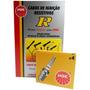 Kit Cabos + Velas Ngk Fiat Uno 1.3 Gasolina 85/91