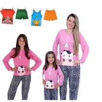 Kit De Pijama Vaquinha, Tal Mãe, Tal Filha 2 Unidades