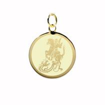 Pingente Folheado / Banhado A Ouro - São Jorge