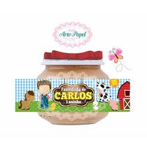 30 Rótulos Adesivos Personalizados Para Pote Papinha Nestle