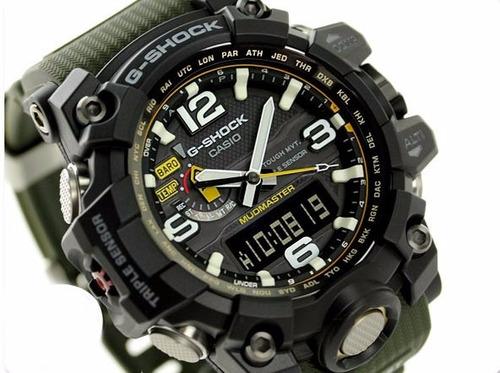 27656ad99fa Relógio Casio G Shock Gwg 1000-1a3 Verde Mudmaster Solar. R  2850