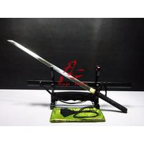 Espada Ninjato Afiada Katana Ninja Com Fio Aço Damasco Real