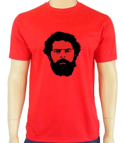 55ef85562c619 Camiseta Vermelha Lula Presidente Promoção