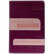 Biblia Letra Grande De Estudo Facilitado - Feminina/mc